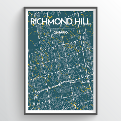 Richmond Hill Map Art