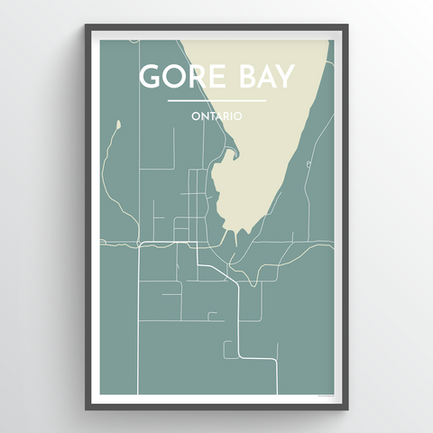 Gore Bay Map Art