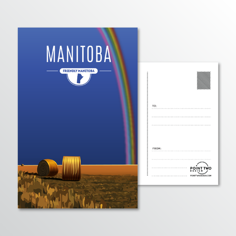 Affordable wholesale postcards of Manitoba - Illustrated Province Art