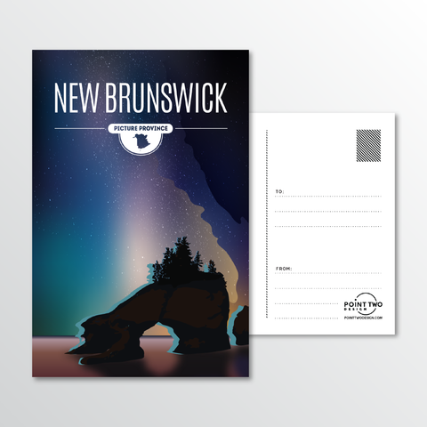 Affordable wholesale postcards of New Brunswick - Illustrated Province Art
