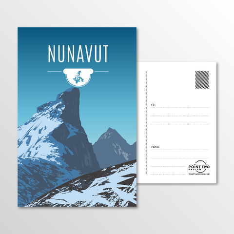 Affordable wholesale postcards of Nunavut - Illustrated Province Art