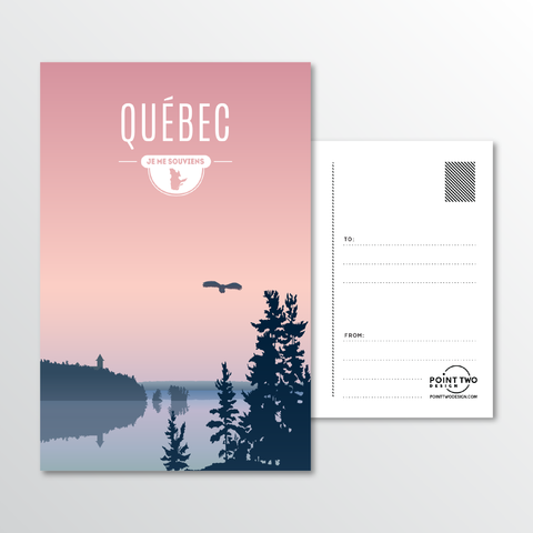 Affordable wholesale postcards of Quebec - Illustrated Province Art