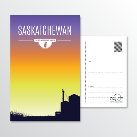 Affordable wholesale postcards of Saskatchewan - Illustrated Province Art