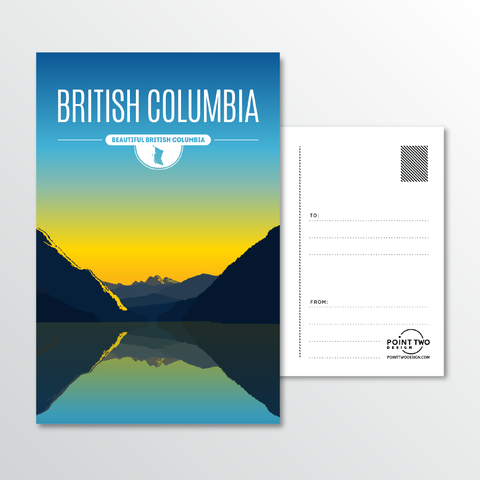 Affordable wholesale postcards of British Columbia - Illustrated Province Art