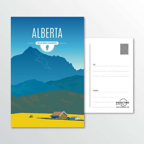 Affordable wholesale postcards of Alberta - Illustrated Province Art