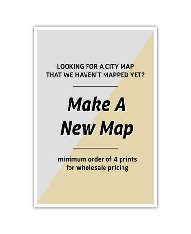 Affordable wholesale art prints of Map My City - City Map Art Print