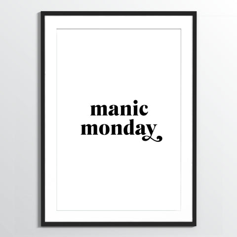 Wholesale art print: Manic Monday Art Print