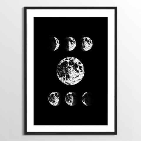 Wholesale art print: Moon Phases Art Print