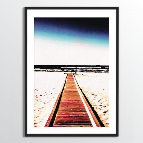 Wholesale art print: Watercolor Boardwalk Art Print