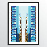 Wholesale art print: Watercolor Buildings Art Print