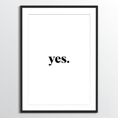 Wholesale art print: Yes Art Print