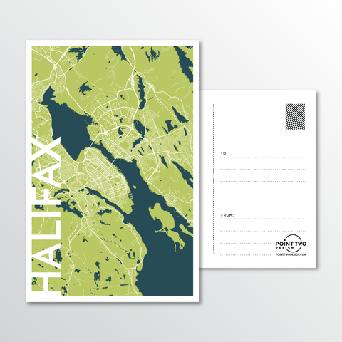 Affordable wholesale postcards of Halifax - Illustrated Province Art