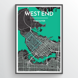 Vancouver West End Map Art