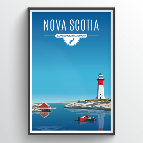 Affordable wholesale art prints of Nova Scotia - Illustrated Province Art