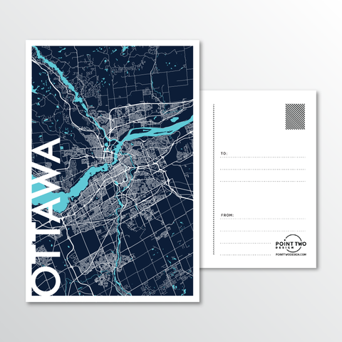 Affordable wholesale postcards of Ottawa - Illustrated Province Art