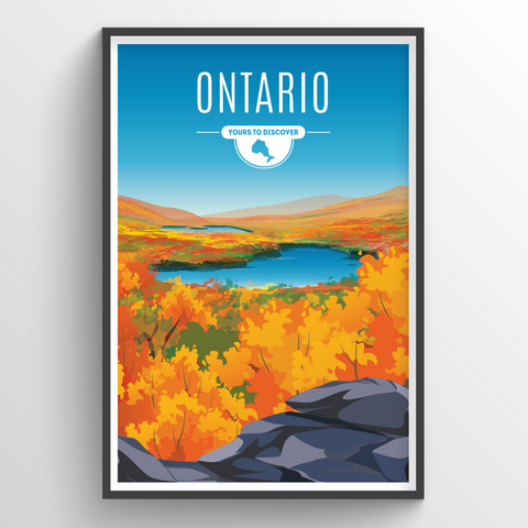 Affordable wholesale art prints of Ontario - Illustrated Province Art