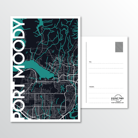 Affordable wholesale postcards of Port Moody - Illustrated Province Art