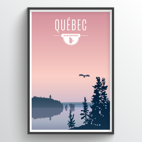 Affordable wholesale art prints of Quebec - Illustrated Province Art