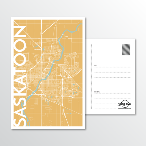 Affordable wholesale postcards of Saskatoon - Illustrated Province Art