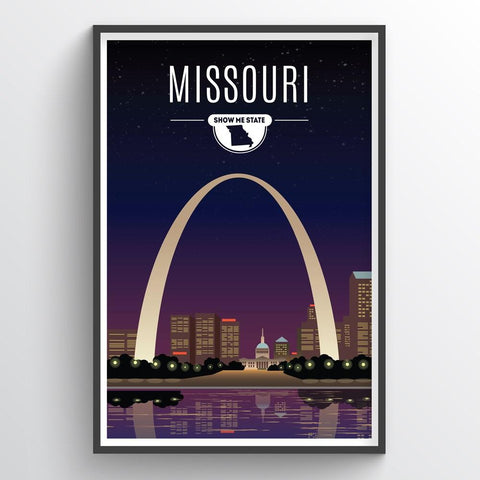 Affordable wholesale art prints of Missouri - Illustrated State Art