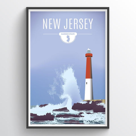 Affordable wholesale art prints of New Jersey - Illustrated State Art