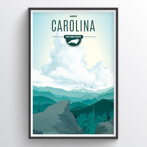 Affordable wholesale art prints of North Carolina - Illustrated State Art