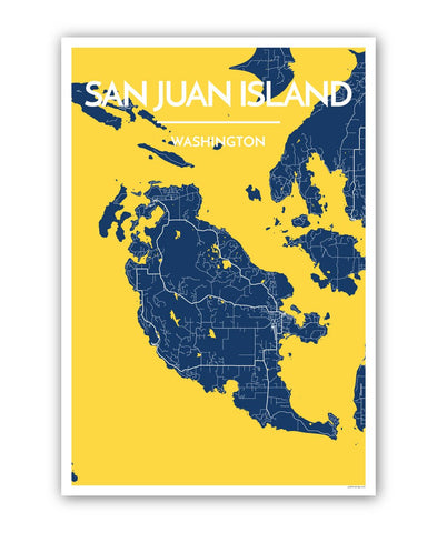 Affordable wholesale art prints of San Juan Island - City Map Art Print