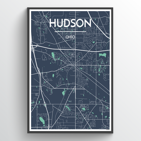 Hudson Ohio Map Art