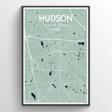 Affordable wholesale art prints of Hudson Ohio - City Map Art Print
