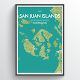 Islands of San Juan Map
