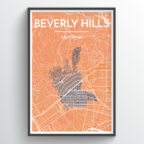 Los Angeles - Downtown Map Art