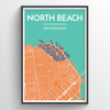 "North Beach / 13x19"" / Color"