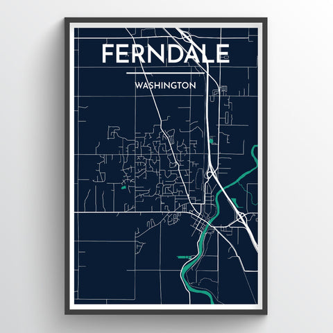 Ferndale Map Art