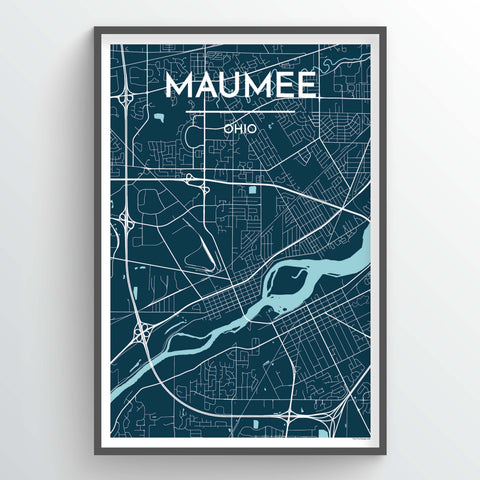 Maumee Ohio Map Art