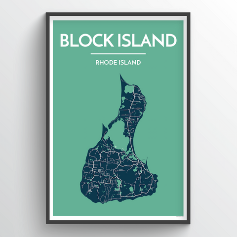 Affordable wholesale art prints of Block Island - City Map Art Print
