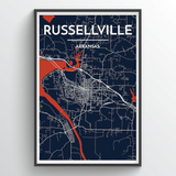 Russellville City Map