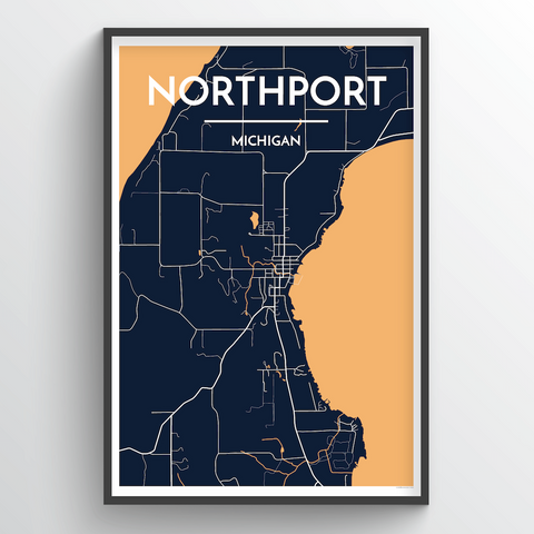 Affordable wholesale art prints of Northport - City Map Art Print