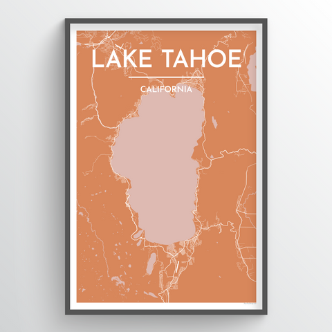 Lake Tahoe, CA City Map