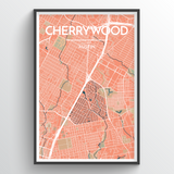 Affordable wholesale art prints of Austin Neighborhoods - City Map Art Print