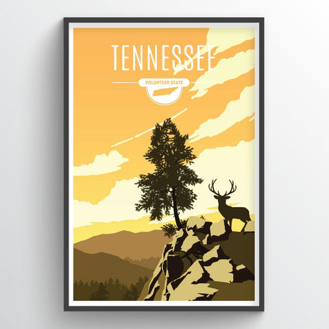 Affordable wholesale art prints of Tennessee - Illustrated State Art