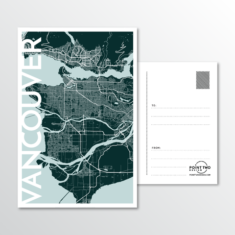 Affordable wholesale postcards of Vancouver - Illustrated Province Art