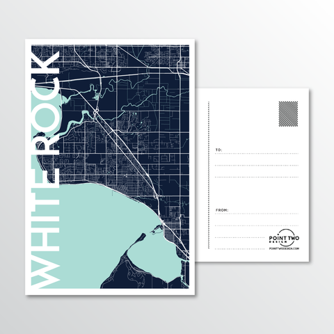 Affordable wholesale postcards of White Rock Postcard - Illustrated Province Art