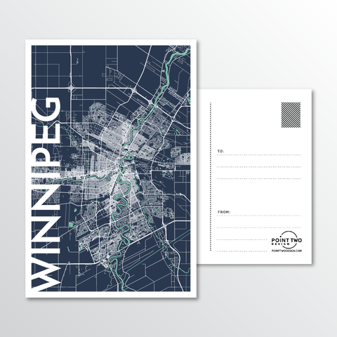 Affordable wholesale postcards of Winnipeg - Illustrated Province Art