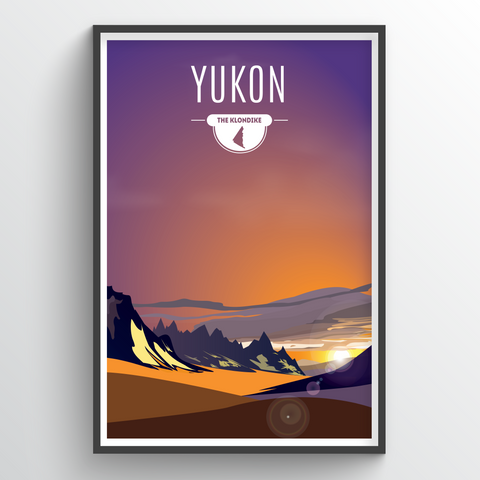 Affordable wholesale art prints of Yukon - Illustrated Province Art