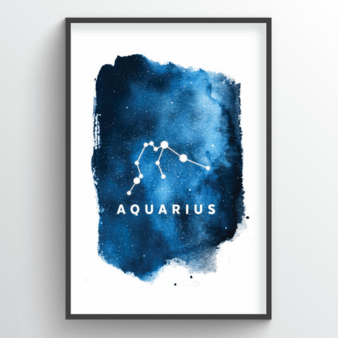 Zodiac Art Print - Aquarius