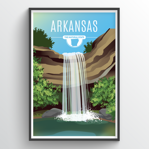 Affordable wholesale art prints of Arkansas - Illustrated State Art