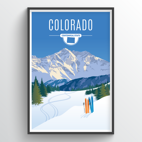Affordable wholesale art prints of Colorado - Illustrated State Art