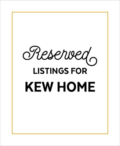 Affordable wholesale art prints of Reserved for KEW HOME - City Map Art Print