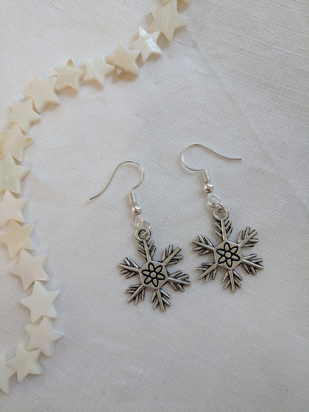 Snow drop earrings
