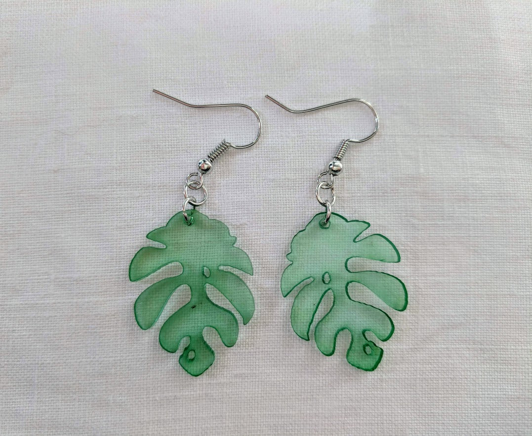 Acrylic Leaf earrings | Leaf  earrings | Quirky earrings